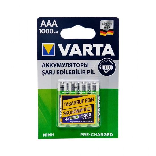 Batareyka Varta 5703 AAA 4-li 1000mAh Şarj Ediləbilir