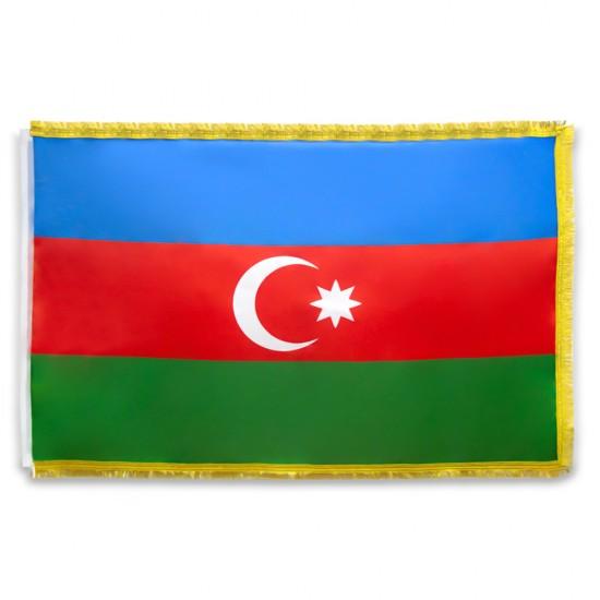 Bayraq (100*150) Azərbaycan qalın saçaqlı