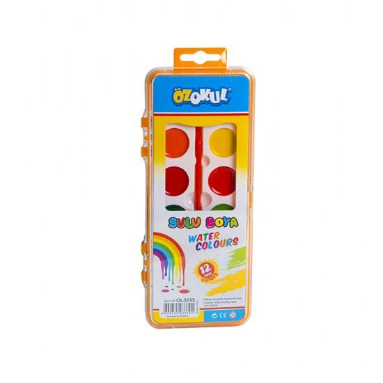 Boya OL-3195 12 rəngli  fırçalı