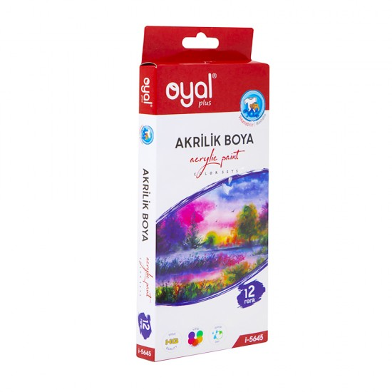 Boya akril  i-5645 12 rəng 12ml