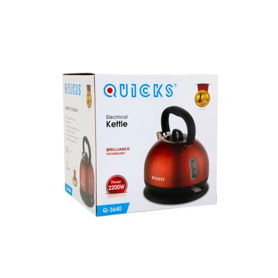 Çaynik Q-3640 elektrik klassik  1.7L  qırmızı