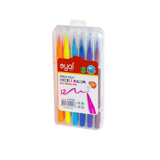 Flomaster i-4775 12 rəng fırçalı