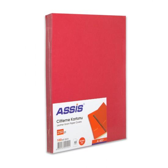 Cildləmə kartonu A-437 A3 250 qr 100 ədəd qırmızı