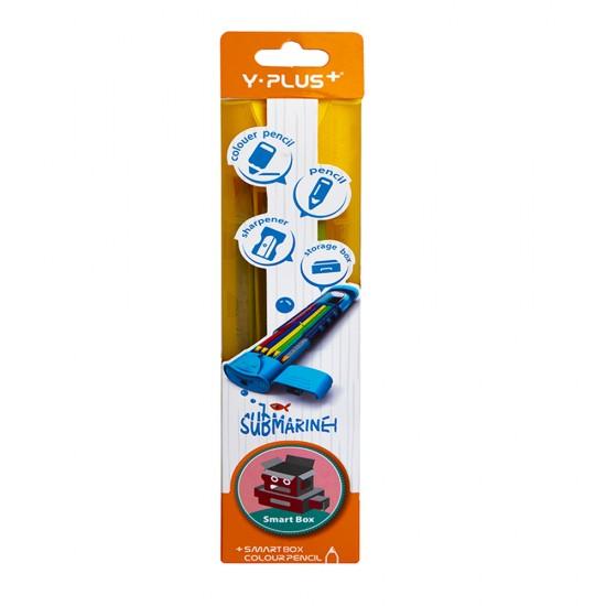 Rəngli karandaş+yonan BH160110 plastik qabda