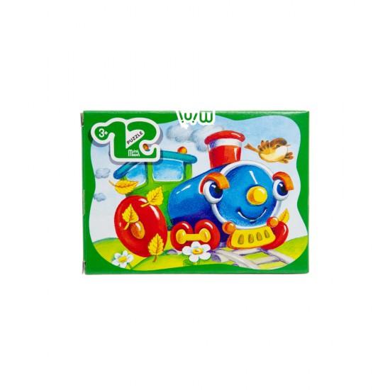 Mozaika Puzzle 87003 12ədədli Parovozik (mini-maxi)