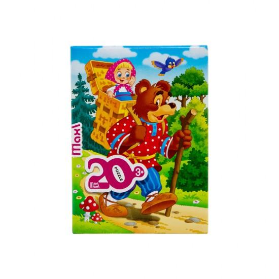Mozaika Puzzle 88006 20ədədli Maşa i medved (mini-maxi)