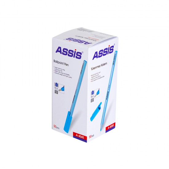 Qələm A-4045 mavi 1mm